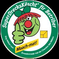Das Unternehmen nimmt an der SuperDrecksKëscht®-Kampagne teil und verpflichtet sich, ein besonderes Augenmerk auf Abfallvermeidung, -verwaltung und -minderung zu legen